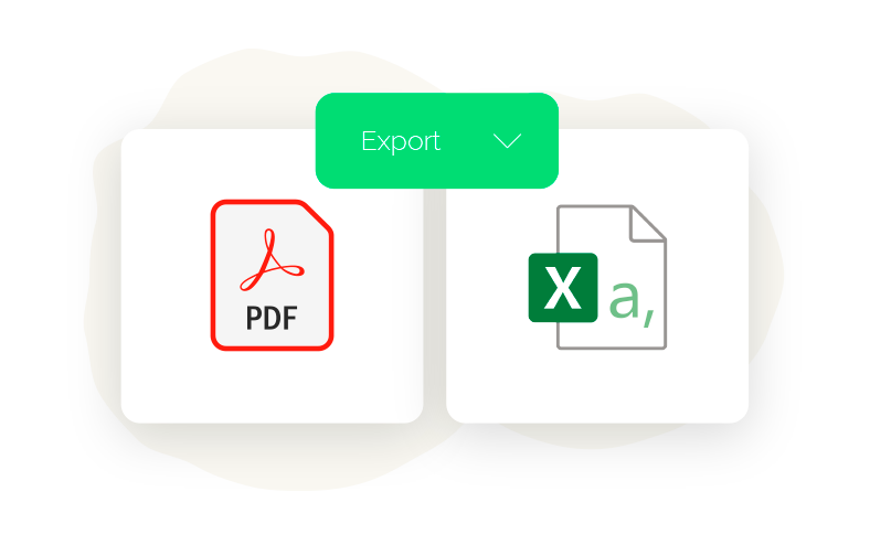 Download your results in pdf or csv