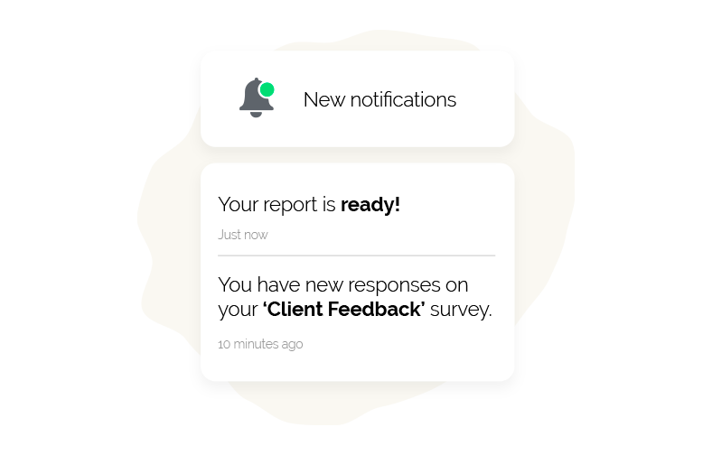 Receive automated notifications for new responses