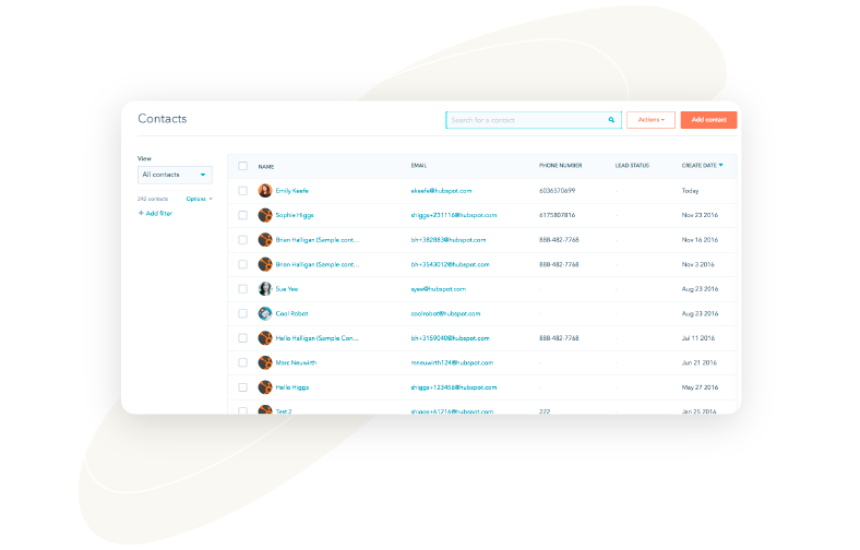 Create and update your HubSpot contacts