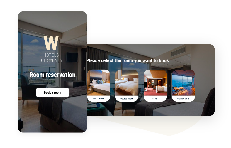 Customize your forms with the images of your hotel or company